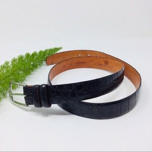 Vintage Trafalgar American Alligator Leather Belt
